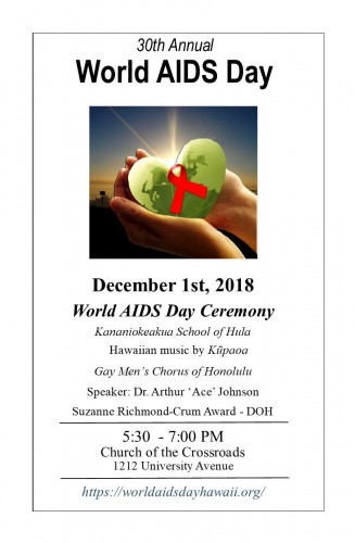 world aids day flyer 2018